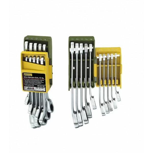 Proxxon 23126. Набор из 10 ключей MicroSpeeder в пластиковом держателе. 8 – 19 мм