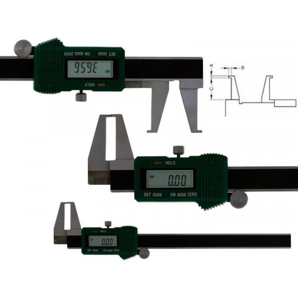 Schut 907.557 Штангенциркуль цифровой для измерения канавок Schut 0.01 мм, 8 - 200 мм