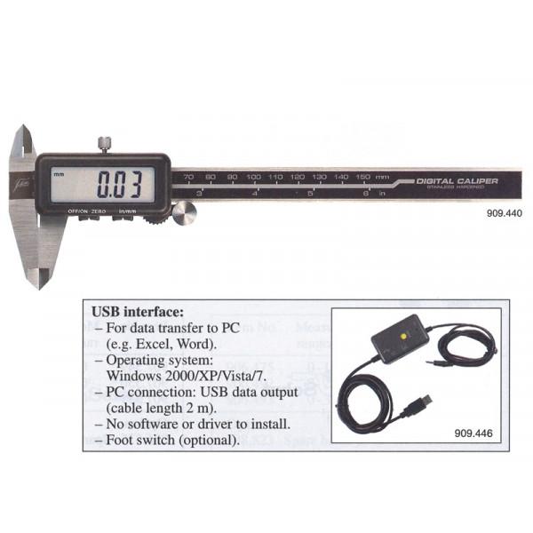 Schut 909.444 Штангенциркуль цифровой Absolute Schut 0.01 мм, 0 - 200 мм