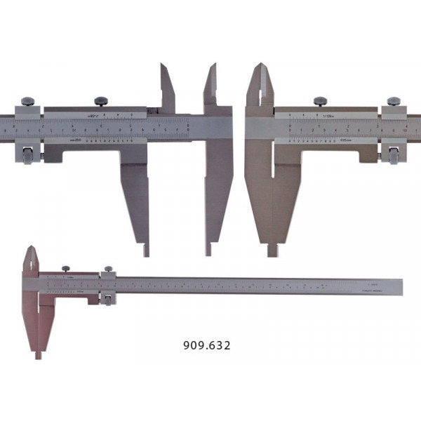 Schut 909.624 Штангенциркуль нониусный односторонний цеховой Schut 0.05 мм, 0 - 1000 мм