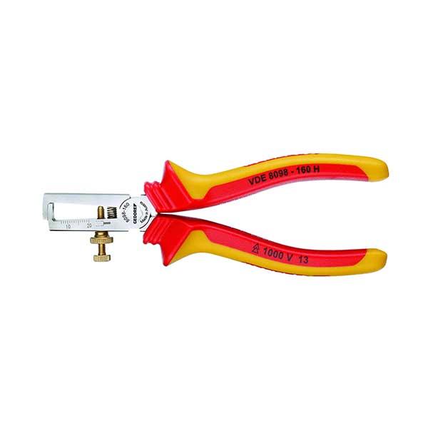 VDE-плоскогубцы для снятия изоляции с изоляцией в виде чехла 160 мм Gedore 1552074