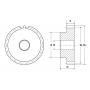 Зубчатая шестерня со ступицей, M=2, Z=38 PM28038 TECHNIX