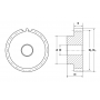 Зубчатая шестерня со ступицей, M=6, Z=12 PM34012 TECHNIX