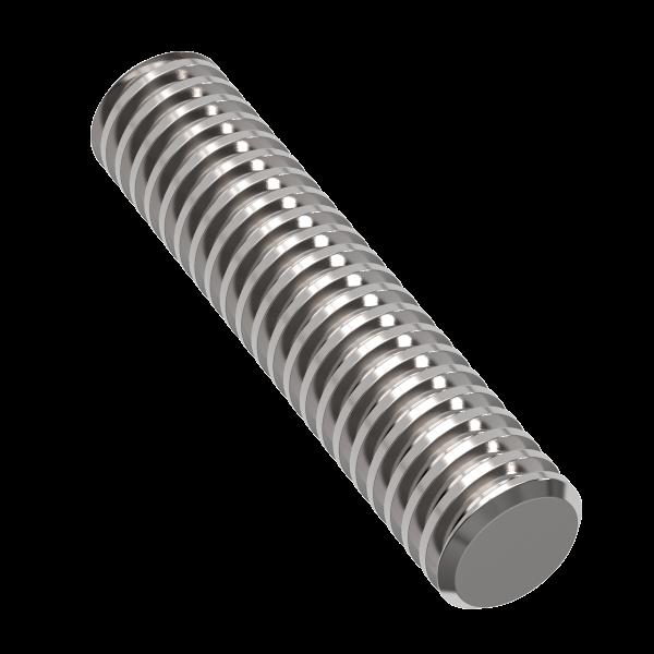 Винт трапецеидальный d=30 мм, шаг резьбы 6 мм, L=300 см, TR 30-6-D TECHNIX
