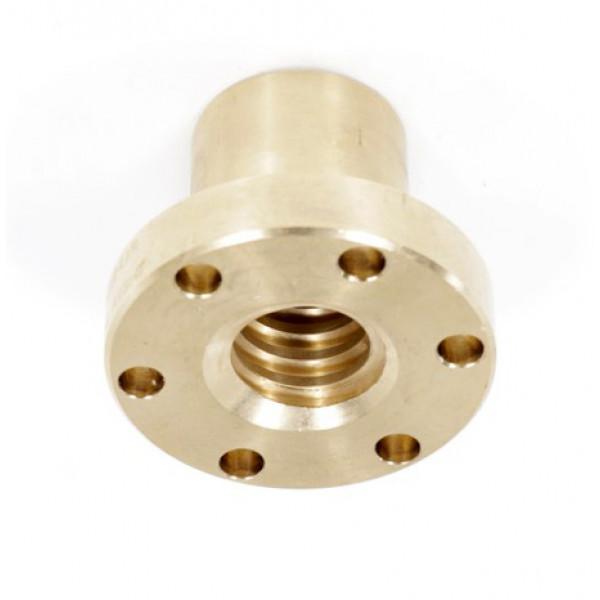 Гайка трапецеидальная c фланцем (бронза) d=16 мм, шаг резьбы 4 мм (лев. резьба), BFM 16-4-G TECHNIX
