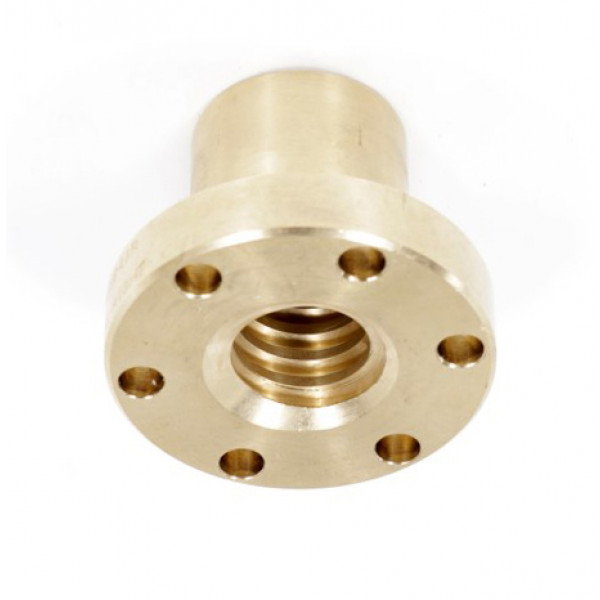 Гайка трапецеидальная c фланцем (бронза) d=30 мм, шаг резьбы 6 мм (прав. резьба), BFM 30-6-D TECHNIX