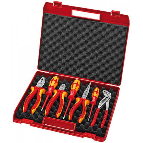 Чемодан пластиковый с инструментом,7 предметов для электромонтажа 00 21 15