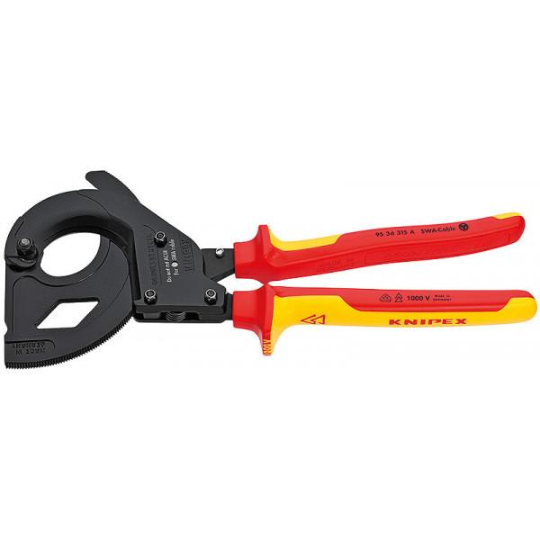 Ножницы для резки кабелей (по принципу трещотки)  Knipex 95 36 315 A KN-9536315A