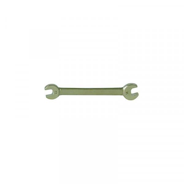 Неискрящий двусторонний рожковый гаечный ключ (DIN 895) KUKKO 1006F2123