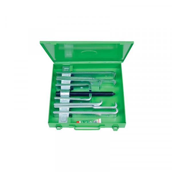Съёмник с захватами разл. длины, для мастерских и ремонта сельхозтехники, в металлическом чемодане KUKKO 200-UM