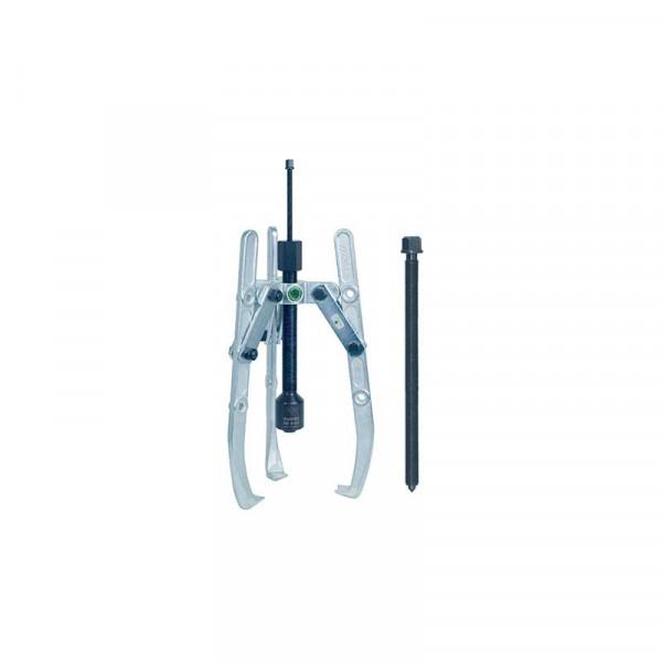 Универсальный трёхзахватный съёмник с регулир. глубины фиксации,с длинным гидравлич. шпинделем и шарнирными захватами (вкл. механический шпиндель) KUKKO 207-1-B