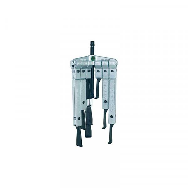 Универсальный трёхзахватный съёмник с особо узкими захватами, в наборе KUKKO 30-10-SP-T