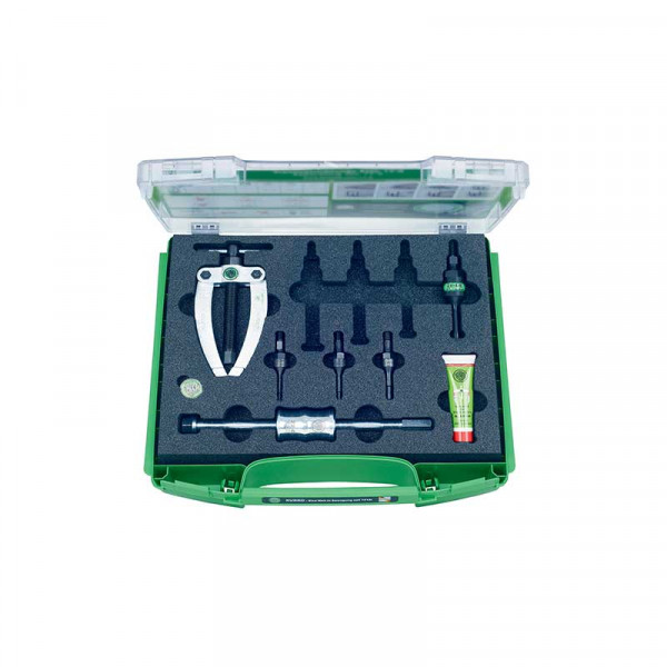 Набор для демонтажа шарикоподшипников с контропорой и обратным молотком KUKKO K-22-A-E