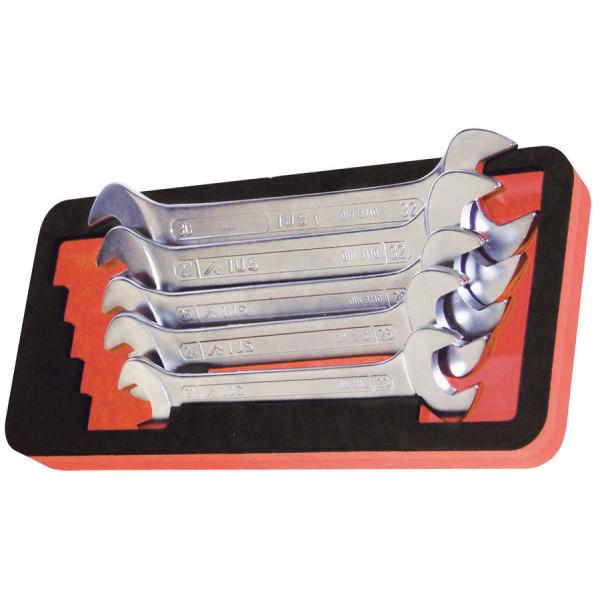 Ложемент из вспененного материала с инструментом. 5  двухсторонних рожковых ключей, SUPER 111CASP05OSC