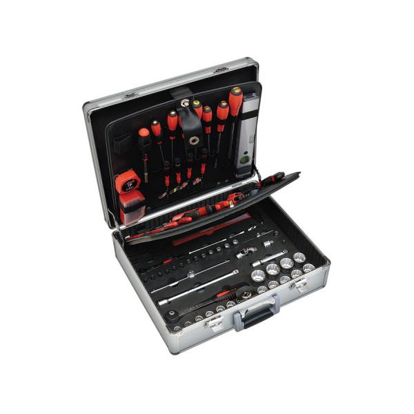 Набор инструмента в чемодане из алюминия  TIG2 125 предметов 9534125001