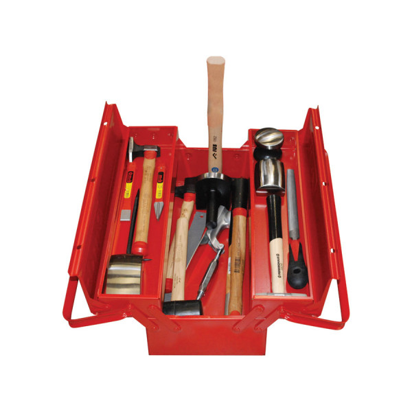Набор инструмента для кузовных работ, в металлическом ящике.  27 предметов 111TST00017