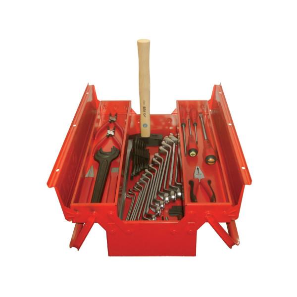 Набор инструмента для тяжёлой техники в железном ящике 46 предметов 111TAF00045