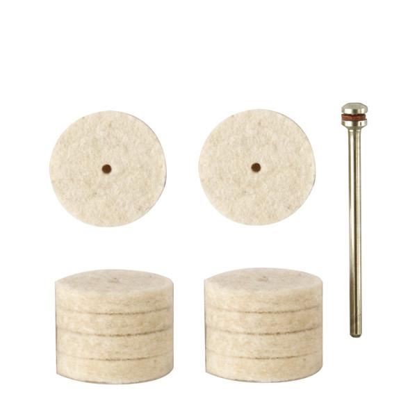 Полировальные насадки из войлока, 10  поз. (22 мм )