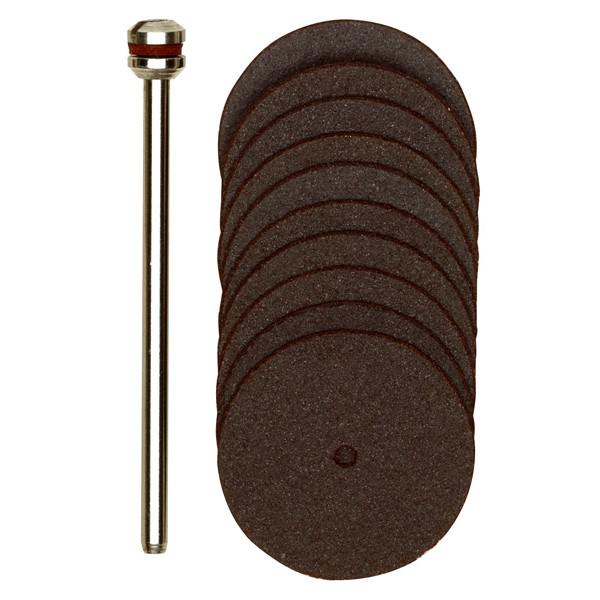 Корундовые отрезные диски, 10  шт., 22 мм с дискодержателем