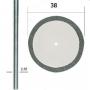 Proxxon 28842 Алмазный отрезной диск, 38 мм с дискодержателем