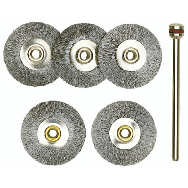 Щетки-диски из нержавеющей стали, 5  поз.