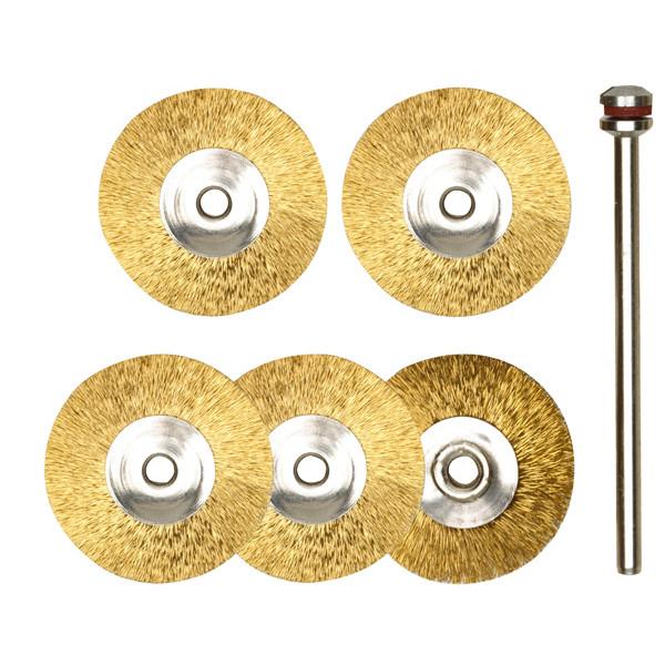 Латунные щетки-диски, 5  шт. (22 мм)