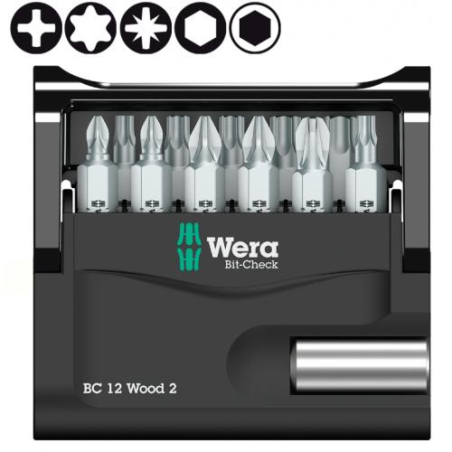 Набор WERA Bit-Check 12 Wood 2 057422