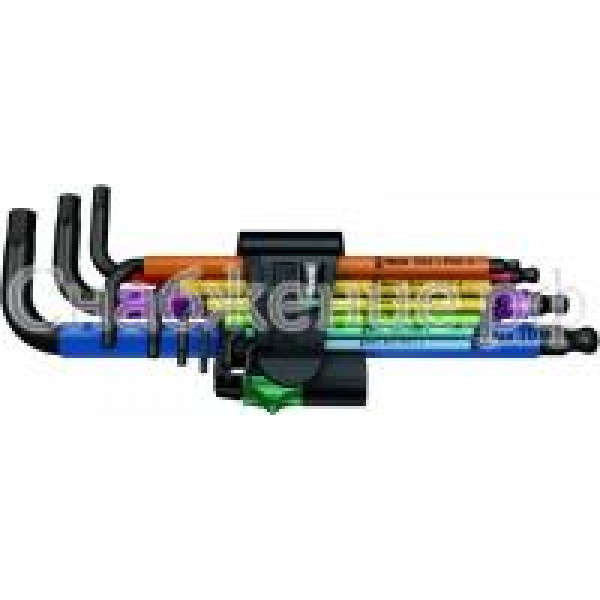 950 SPKL/9 SM N Multicolour Набор Г-образных ключей, метрических, BlackLaser