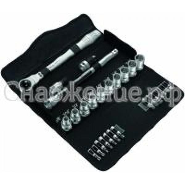 8100 SC 11 Набор насадок с трещоткой Zyklop Metal Switch, с рычагом переключения, ½