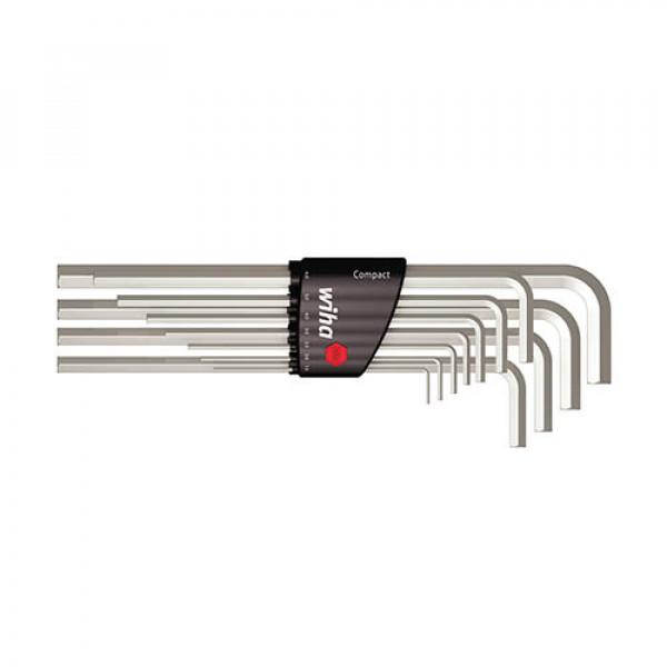 Набор штифтовых ключей(никелирование) в держателе Compact (11 предм.)