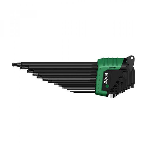 Набор штифтовых ключей TORX со сфер. гол. в держ. ErgoStar (13 предметов) в блистере