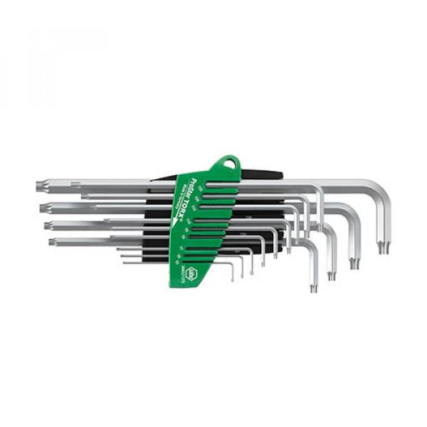 Набор штифтовых ключей TORX® титаново-серебристых 13 шт. WIHA 39104