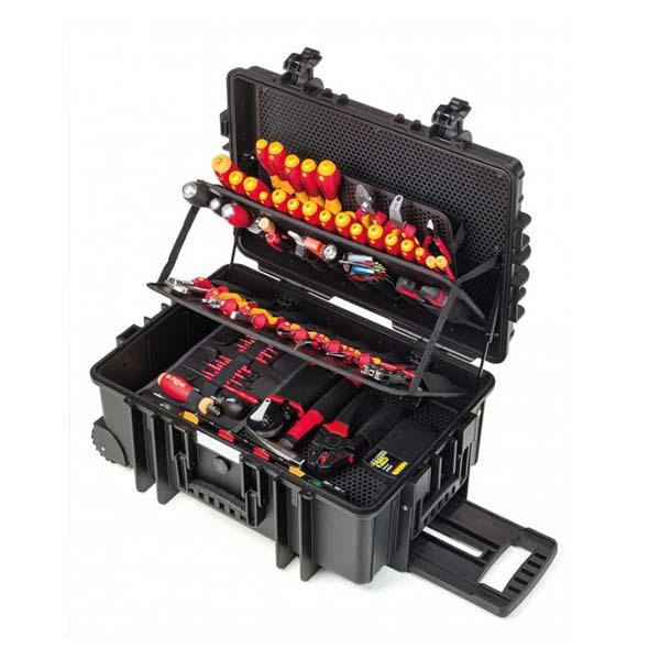 Инструменты, набор электрика Competence XXL II смешанная комплектация, 115 предм. в чемодане