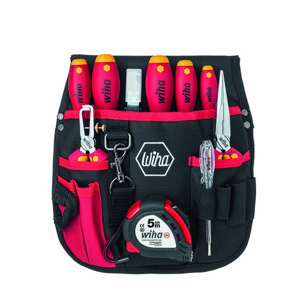 Набор для электриков в поясной сумке 10 шт. WIHA 40282