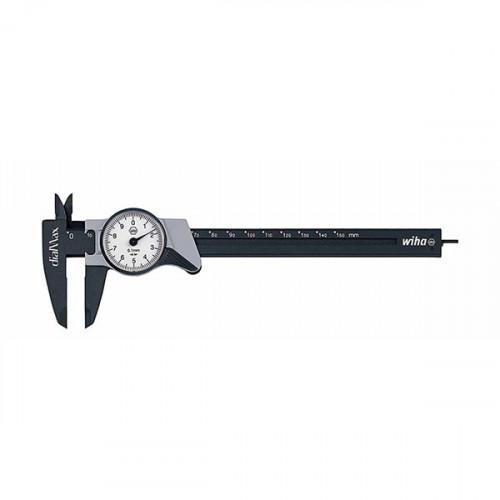 Штангенциркуль с часовой шкалой dialMax, точность 0.1мм, до 150мм