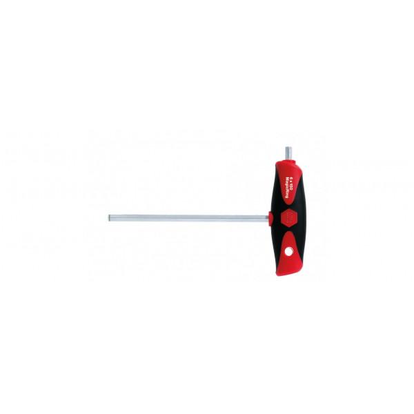 Отвертка ComfortGrip с Т-образной рукояткой с боковым приводом, с MagicRing НЕХ8x200