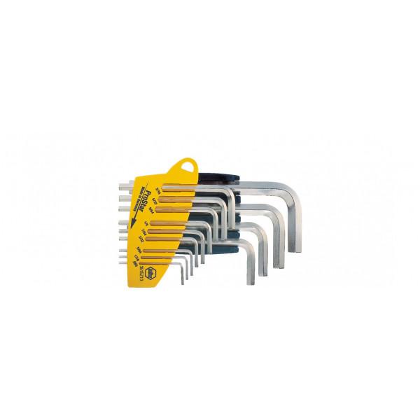 Набор штифтовых ключей в держателе ProStar Шестигранник, 13 предм., блестящее никелирование, дюймовое исполнение